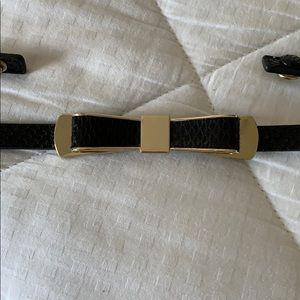 White House Black Market bow belt, elastic & snaps